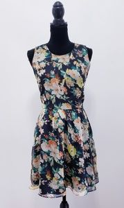 Dolce Vita Floral Sheer Skater Dress